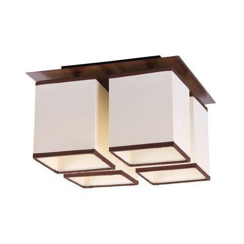 Plafon lampa oprawa sufitowa Rabalux Kubu 4X40W E14 brązowa 2897