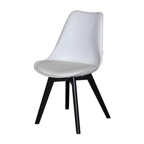 Interstil Krzesło jerry 2 białe czarne, drewno dębu malowane, 22139-22