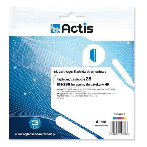 Actis Tusz kh-28 kolor do drukarek hp (zamiennik hp 28 / c8728ae) [17 ml]