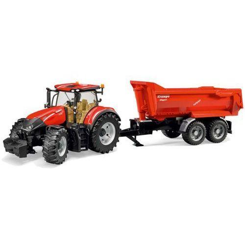 Bruder traktor z przyczepą case ih optum 300 cvx, 1:16 (4001702031992)
