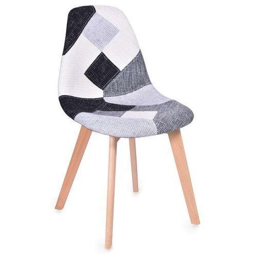 Krzesło tapicerowane molly patchwork marki Ehokery.pl
