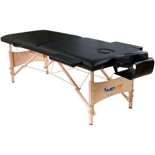 Movit markowe łóżko do masażu czarne + torba stół - czarny marki Movit ®