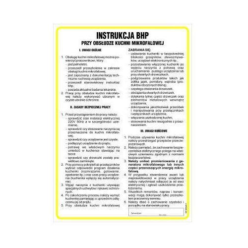 Top design Instrukcja bhp przy obsłudze kuchni mikrofalowej