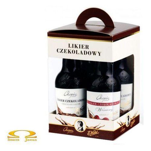 Zestaw likierów czekoladowych i wiśniowych e. & vodka chopin 4x0,05l marki Wedel
