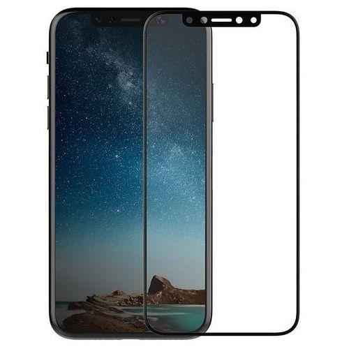 X-Doria Revel Clear - Hartowane szkło ochronne 9H na cały ekran iPhone X (czarna ramka), 461894