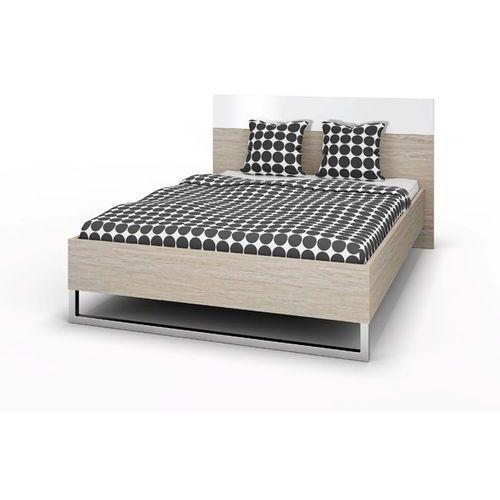 Łóżko Style 180x200 cm - komplet - 180 cm   200 cm \ dąb sonoma   biały