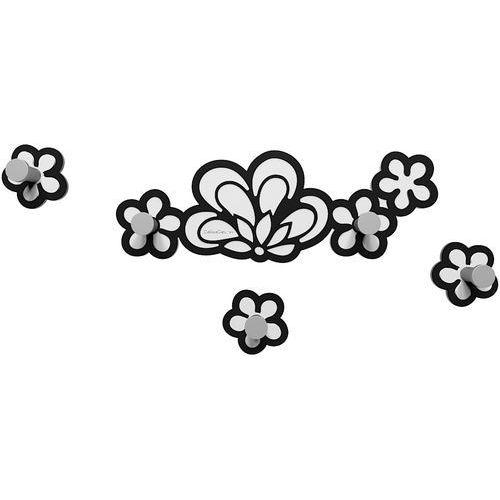 Calleadesign Wieszak ścienny merletto czarny / biały (56-13-1-5)