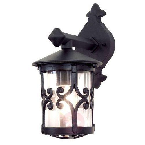 Elstead Zewnętrzna lampa ścienna hereford bl8 klasyczny kinkiet metalowa oprawa ogrodowa ip23 outdoor czarna (5024005234708)