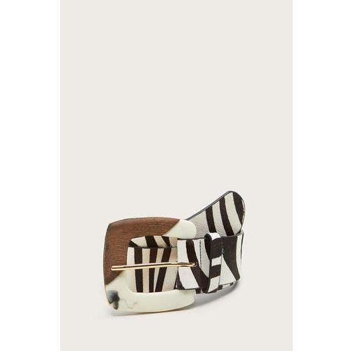 - pasek skórzany zebra marki Mango