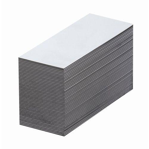 Magnetyczna tablica magazynowa, białe, wys. x szer. 50x80 mm, opak. 100 szt. zap marki Haas