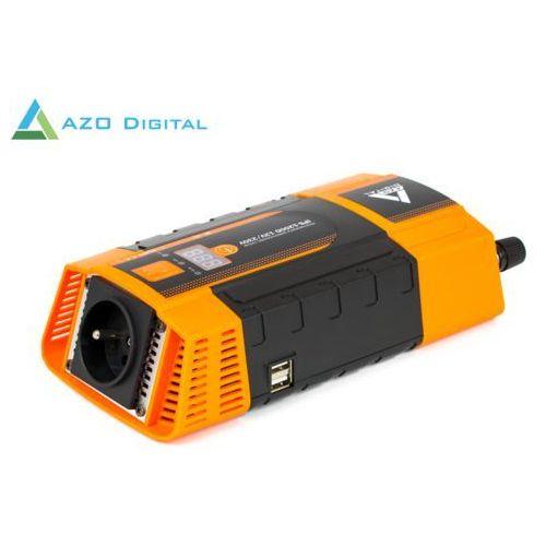 Samochodowa przetwornica napięcia 12 vdc / 230 vac ips-1200d 1200w marki Azo digital