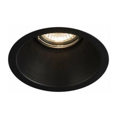 Wpuszczana LAMPA sufitowa KAMI 3326 Shilo okrągła OPRAWA podtynkowa OCZKO metalowe czarne (5903689933261)