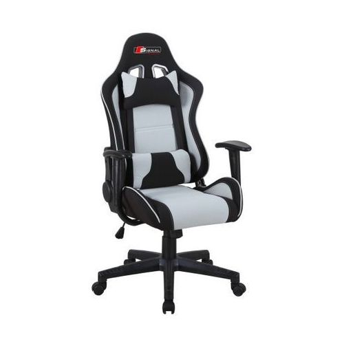 Fotel gamingowy SIGNAL Zanda czarny-szary, S-ZANDA-szary