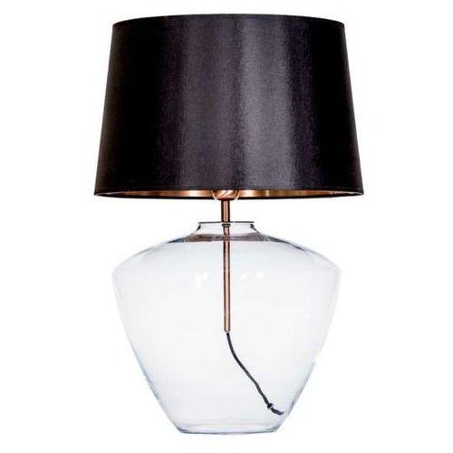 Lampa stołowa lampka ravenna transparent 1x60w e27 czarny/miedziany l034102250 marki 4concepts