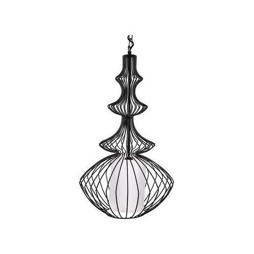 Lampa wisząca metalowa czarna KOLVA, kolor Czarny