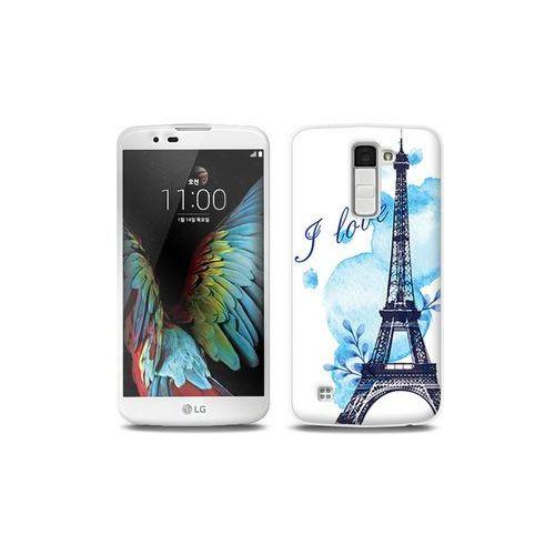 LG K10 - etui na telefon Full Body Slim Fantastic - niebieska wieża eiffla, ETLG287FBSFFC107000
