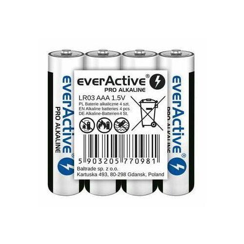 Baterie alkaliczne AAA/LR03 everActive Pro Alkaline 4 sztuki, 9_56004