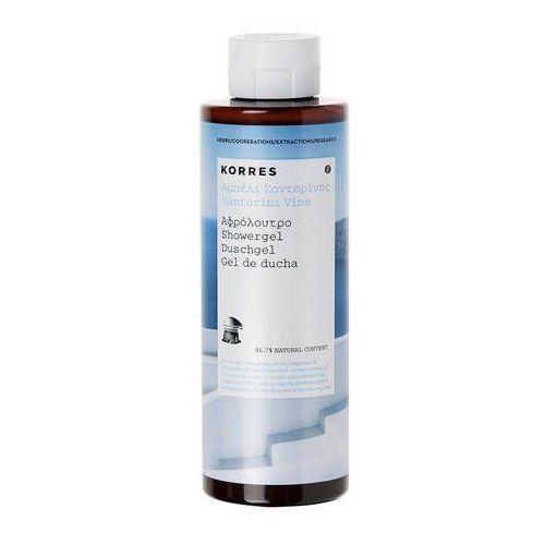Korres Santorini vine showergel żel pod prysznic o zapachu kwiatu winorośli 250ml -