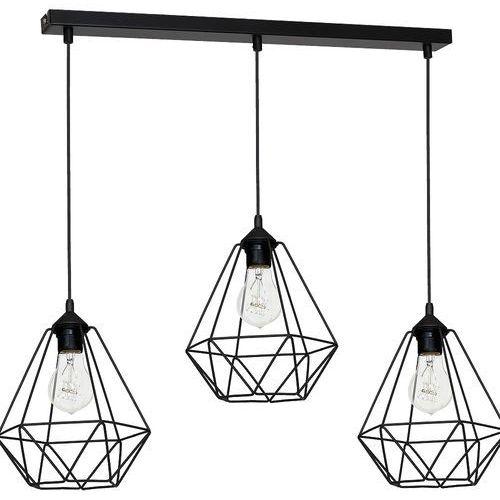 Lampa wisząca Luminex Basket 7215 lampa sufitowa diament 3x60W E27 czarny, 7215