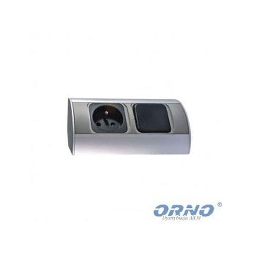 Gniazdo meblowe z wyłącznikiem 1x230v or-ae-1302 marki Orno