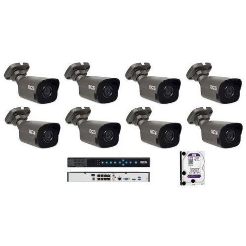 -p-4121r-g zestaw bcs point 8 kamer 2 mpx 4tb hdd rejestrator poe. idealny do obserwacji, sklepu,domu i firmy. marki Bcs