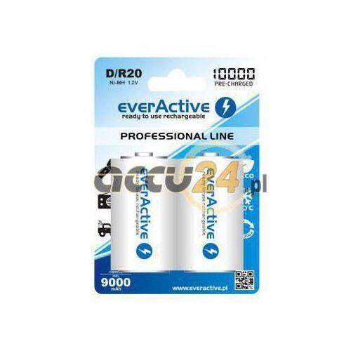 Everactive 2x akumulatorki r20/d ni-mh 10000 mah ready to use