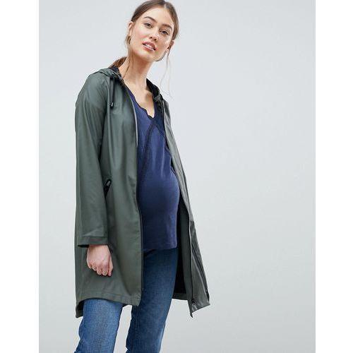 Mamalicious Maternity & Beyond Rainmac With Zip Out Panel - Green