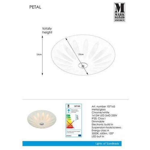 Plafon LAMPA sufitowa PETAL 107165 Markslojd szklana OPRAWA okrągła LED 12W biała, kolor Biały