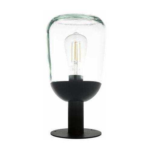 Eglo donatori 98702 lampa stojąca zewnętrzna ip44 1x60w e27 transparentna/czarna