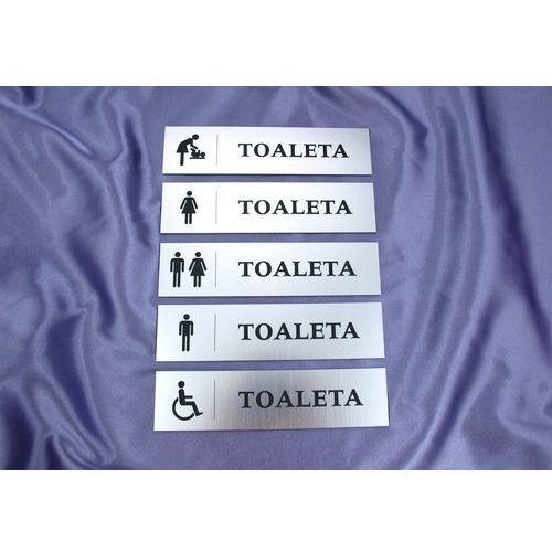 Grawernia.pl - grawerowanie i wycinanie laserem Tabliczki na toalety - tt001 - wym. 20x5cm - kolor srebrny