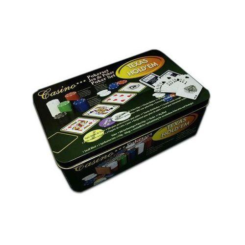 żetony do pokera 200 szt w blaszanym pojemniku (4897049302761)