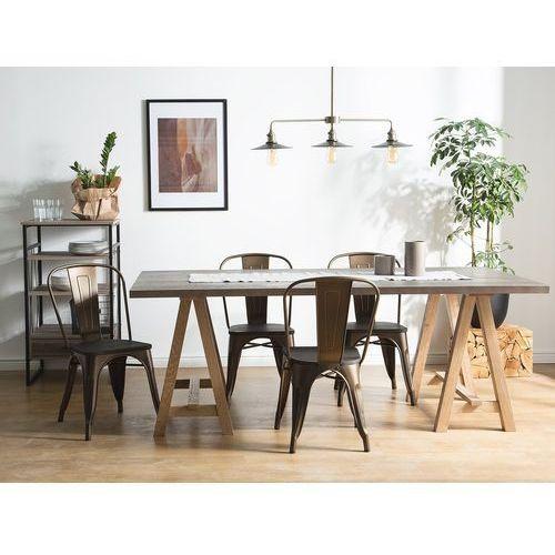 Zestaw do jadalni 2 krzesła ciemnobrązowe APOLLO (7105272034883)