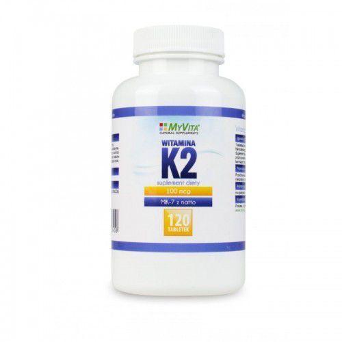 Witamina K2 MK-7 120 tabl. (Myvita), postać leku: tabletki