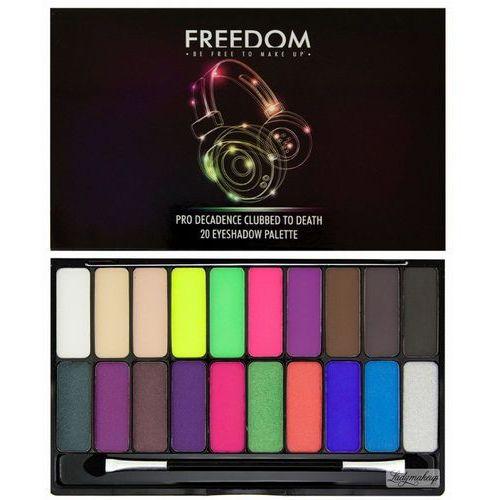 - pro decadence clubbed to death eyeshadow palette - paleta 20 cieni do powiek marki Freedom