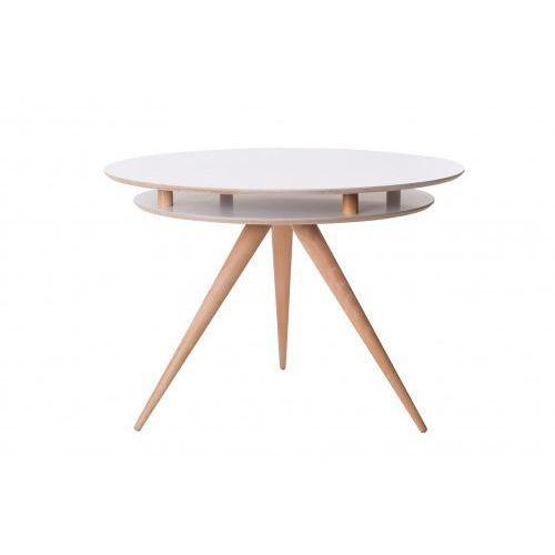 Stół drewniany okrągły triad - kolor biały marki Ragaba