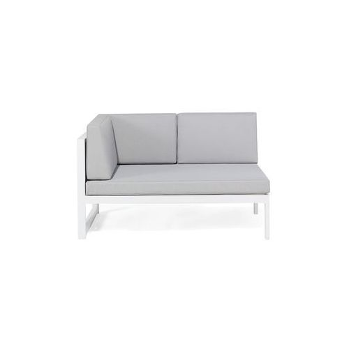 Aluminiowe meble ogrodowe biało-szare - meble balkonowe - VINCI (7081454610819)