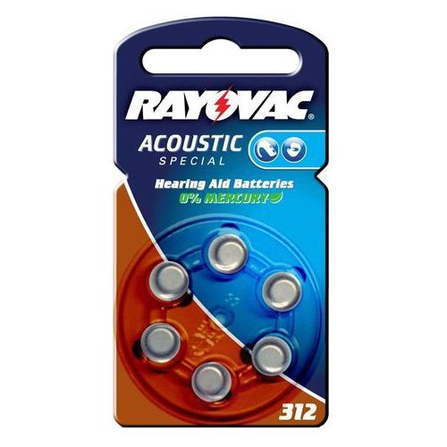Mała bateria rayovac 312 acoustic 1,4v, 180m ah marki Varta
