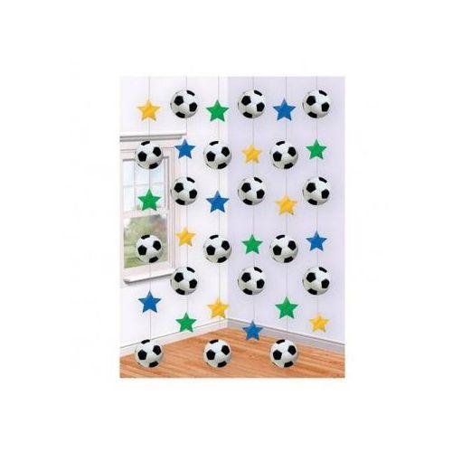 Dekoracja wisząca - Piłka Nożna - 2,1 m - 6 szt.
