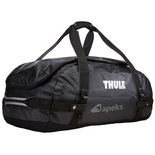 chasm 70l torba podróżna / plecak sport duffel / black - black marki Thule