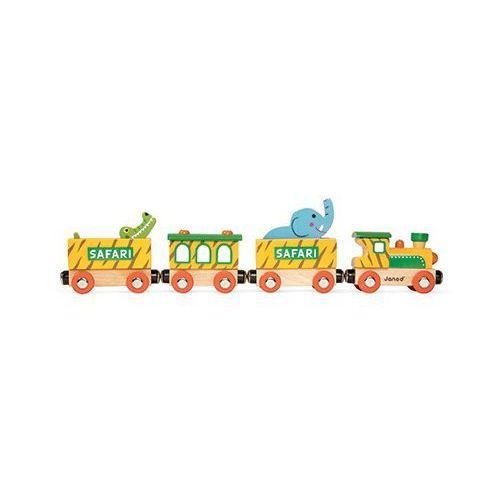 Pociąg drewniany Janod - Safari J08541, J08541