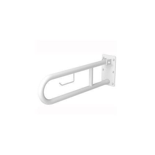 Poręcz łukowa uchylna z uchwytem 700 mm biała marki Faneco