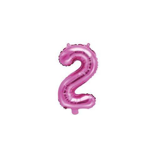 Balon foliowy cyfra 2 różowa - 35 cm (5902230779884)