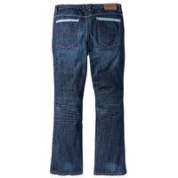 Dżinsy z kontrastowymi szwami Regular Fit Bootcut bonprix ciemnoniebieski