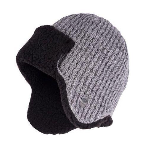 Zimowa czapka, uszatka męska - Jasnoszary - Jasnoszary, kolor szary