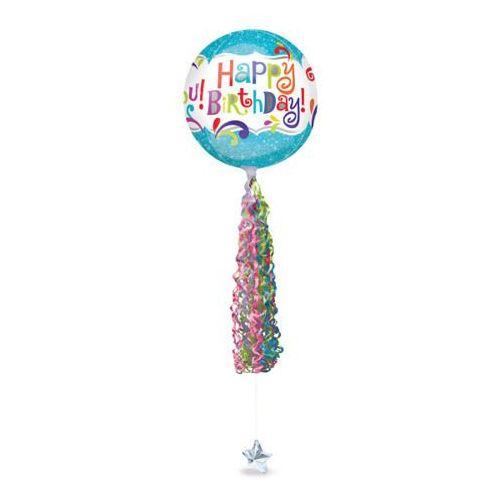 Amscan Dekoracja do balonów serpentyna kolorowa - 86 x 15 cm - 1 szt.