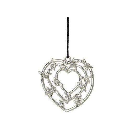 Ozdoba świąteczna serce girlanda karen blixen, srebrny - marki Rosendahl