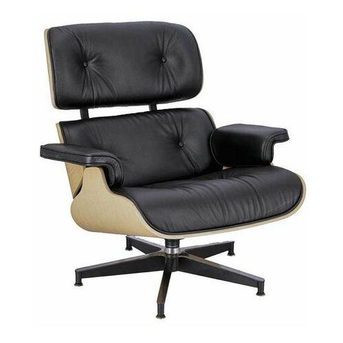 Fotel Vip inspirowany Lounge Chair - czarny ||natural, D2-4399