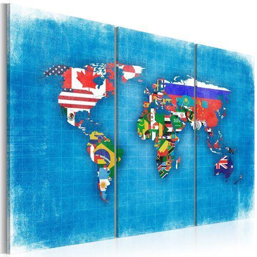 Obraz - Flagi świata - tryptyk