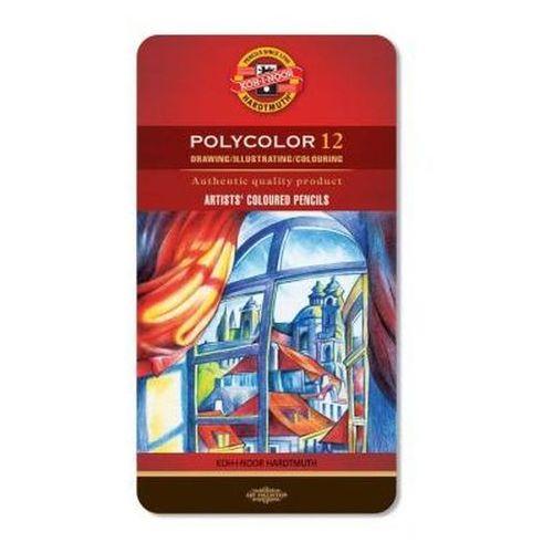 Koh-i-noor Kredki polycolor 12 kolorów oprawa metalowa (8593539232612)
