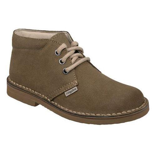 Nagaba Kultowe trzewiki buty 074 oliwka - oliwkowy ||beżowy